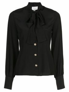 Alexis Aruca pussy bow shirt - Black