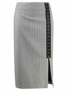 Karl Lagerfeld hook & eye tape skirt - Grey
