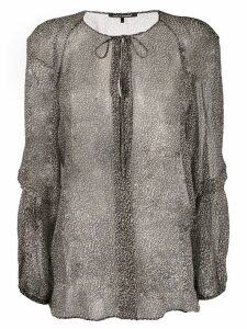 Luisa Cerano sheer leopard print blouse - Grey