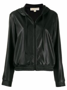 Michael Michael Kors hooded zipped jacket - Black