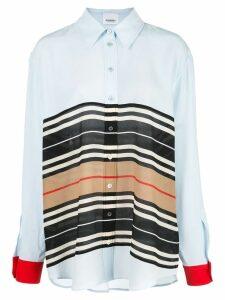 Burberry Icon Stripe oversized shirt - Blue