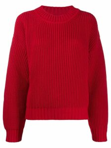 MSGM ribbed sweater - Red