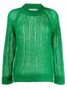 Prada open-knit jumper - Green