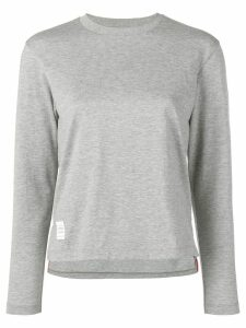 Thom Browne slide slits long sleeve T-shirt - Grey