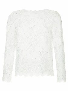 Huishan Zhang lace embroidered blouse - White