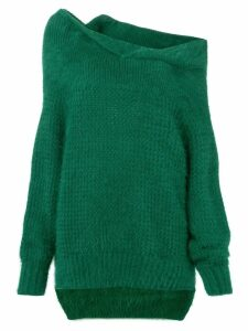 Roland Mouret one shoulder knit sweater - Green