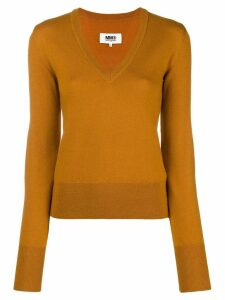 Mm6 Maison Margiela V-neck jumper - Brown