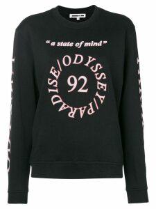 McQ Alexander McQueen logo printed long sleeve T-shirt - Black