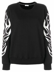 Each X Other Flame effect sweatshirt - Black