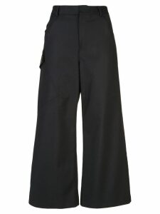 Derek Lam Cotton Sateen Culotte with Utility Pocket - Black