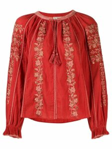 Ulla Johnson Rima embroidered blouse - ORANGE