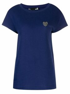Love Moschino logo plaque T-shirt - Blue