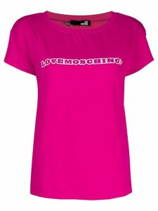 Love Moschino logo T-shirt - PINK