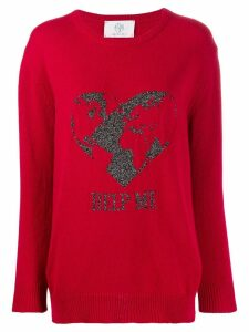 Alberta Ferretti slogan embroidered sweater