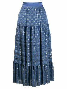 Temperley London a-line midi skirt - Blue