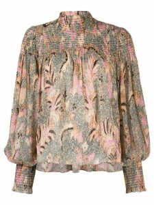 Ulla Johnson printed Dune blouse - NEUTRALS
