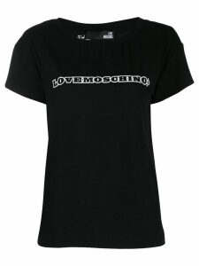 Love Moschino logo T-shirt - Black