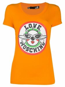 Love Moschino logo T-shirt - ORANGE