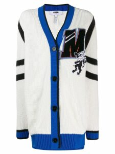 MSGM oversized '2' cardigan - White