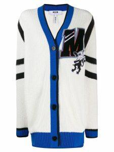 MSGM oversized '2' cardigan - White
