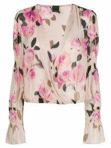 Pinko floral draped blouse - NEUTRALS