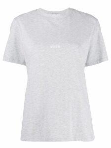 MSGM logo print T-shirt - Grey