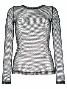 P.A.R.O.S.H. long-sleeved net top - Black