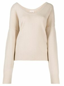 See By Chloé slouched knit sweater - NEUTRALS
