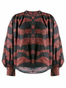 Isabel Marant striped button-up shirt - Black
