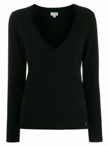 Temperley London deep V-neck top - Black