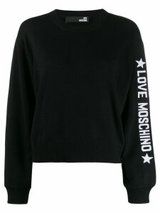 Love Moschino loose-fit logo jumper - Black