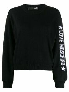 Love Moschino loose-fit logo jumper - Black