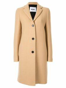 MSGM single breasted coat - Brown