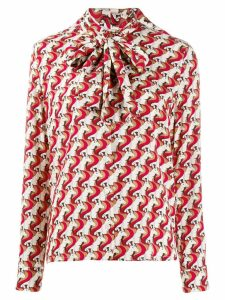 P.A.R.O.S.H. unicorn print blouse - Red