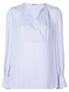 Elie Tahari wrap V-neck blouse - Blue