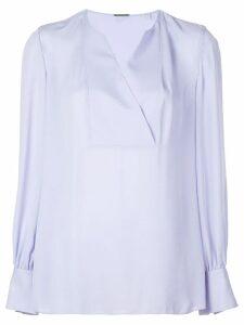 Elie Tahari wrap V-neck blouse - Blue