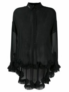 Philosophy Di Lorenzo Serafini long-sleeve sheer blouse - Black