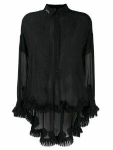 Philosophy Di Lorenzo Serafini long-sleeve sheer blouse - Black
