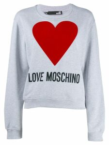 Love Moschino loose-fit logo sweatshirt - Grey