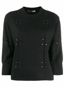 Love Moschino stud-embellished jumper - Black