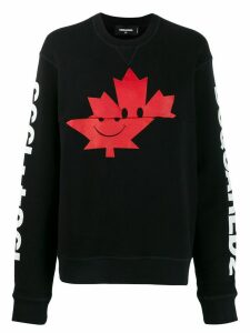 Dsquared2 maple leaf print sweatshirt - Black
