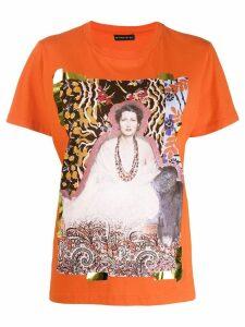 Etro graphic T-shirt - ORANGE