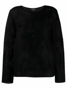 Giorgio Armani ribbed jumper - Black