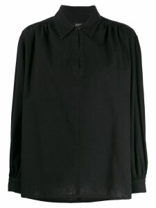 A.P.C. collared blouse - Black