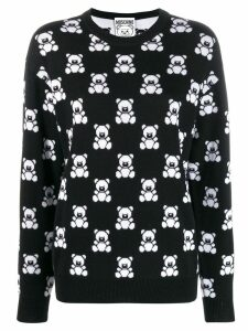 Moschino Teddy print jumper - Black