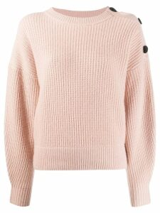 Yves Salomon shoulder button jumper - PINK