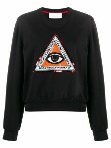No Ka' Oi beaded embroidery sweatshirt - Black