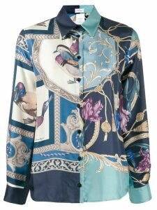 Salvatore Ferragamo printed shirt - Blue