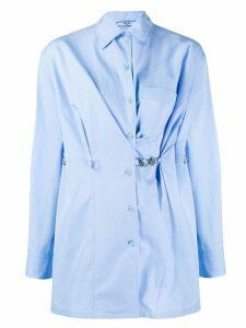 Prada clip detail overshirt - Blue
