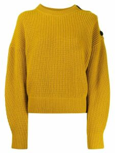 Yves Salomon shoulder button jumper - Yellow